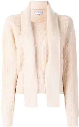 Carven geometric texture jumper