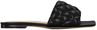 Bottega Veneta Leather Quilted Slides in Black | FWRD