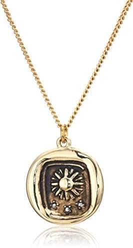 Rachel Roy Womens Talisman Sun Pendant Chain Necklace