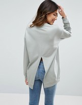 Asos Longline Split Back Sweat