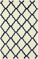nuLoom Marrakech Trellis Wool Rug - Blue