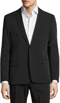 Versace Slim-Fit Woven Solid Two-Button Suit, Black