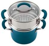 Rachael Ray Rachael RayTM Porcelain Nonstick Steamer Set in Marine Blue