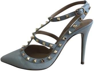 Valentino Rockstud Turquoise Leather Heels
