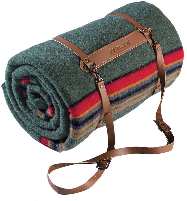 Thumbnail for your product : Pendleton Twin Camp Blanket with Carrier - Green Heather
