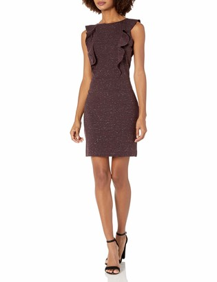 Cupcakes And Cashmere Women's Lisa Marled Ponte Ruffle Dress with Center Back Zip