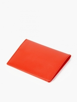 Comme Des Garcons Wallet Orange Leather Cardholder