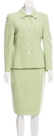 Akris Wool-Blend Skirt Suit