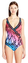 Gottex Women's Monarch Surplice Full Coverage One Piece Swimsuit