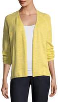 Eileen Fisher Organic Linen Slub Linen Cardigan, Plus Size