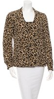 Tory Burch Leopard Print Button-Up Top