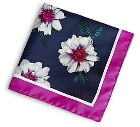 Ted Baker Silk Floral Print Pocket Square