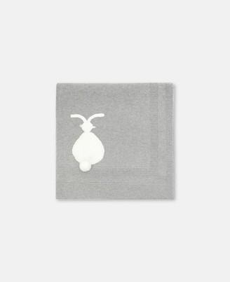 Stella McCartney Bunny Cotton-Wool Blanket, Unisex