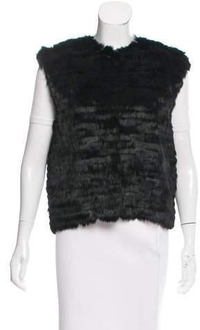 Adrienne Landau Paneled Fur Vest