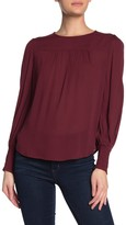 Lucky Brand Smocked Cuff Blouse