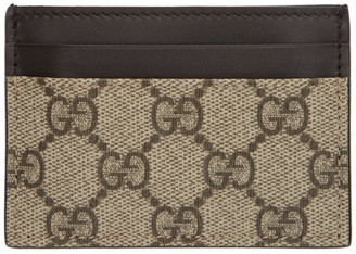 Gucci Beige GG Supreme Money Clip Card Holder