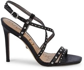 Sam Edelman Lennox Studded Leather Slingback Heeled Sandals