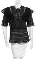 Nightcap Clothing Lace-Trimmed Crew Neck Blouse w/ Tags