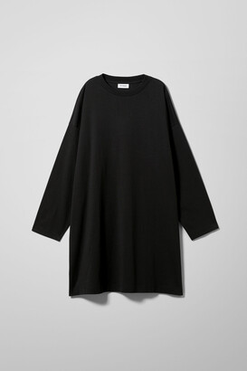 Weekday Elke Long Sleeve Dress - Black