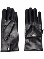 Thumbnail for your product : Prada Triangle Logo Pouch Gloves