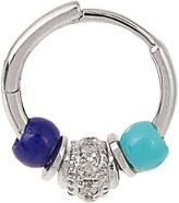 Elise Dray Diamond, turquoise & lapis Mini Rock earring