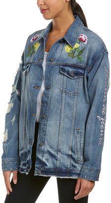 Eight Dreams Ei8ht Dreams Embroidered Denim Jacket