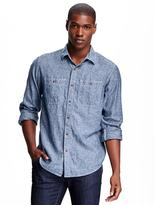 Old Navy Regular-Fit Chambray Shirt for Men