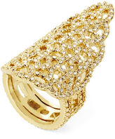 BCBGMAXAZRIA Pave Filigree Pointed Ring