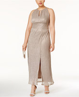 R & M Richards Metallic Halter Gown