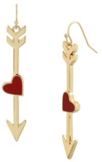 Betsey Johnson Heart Arrow Drop Earrings