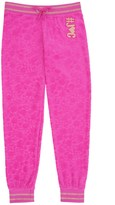 Juicy Couture Girls Fashion Track Castle Hill Jacquard Velour Pant