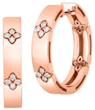 Roberto Coin Love In Verona 18K Rose Gold & Double Hoop Earrings