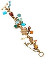 Stephen Dweck Quartz, Turquoise & Topaz Bracelet