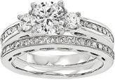 MODERN BRIDE 1 1/4 CT. T.W. Diamond 14K White Gold Bridal Set