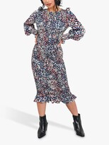 Thumbnail for your product : Little Mistress Abstract Print Shirred Bodycon Dress, Navy/Multi