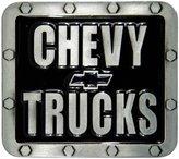 AV8America Chevy Trucks Belt Buckle, Finish, Black Enamel Fill