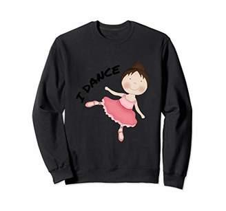 Arabesque (Brown Hair) Ballerina Girl Sweatshirt