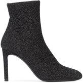 Giuseppe Zanotti Design Celeste glitter sock boots - women - Leather/Spandex/Elastane/Metallized Polyester - 36