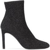 Giuseppe Zanotti Design glitter sock boots - women - Leather/Spandex/Elastane/Metallized Polyester - 35