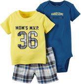 Carter's 3-pc. Bodysuit and Shorts Set - Baby Boys newborn-24m