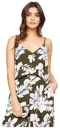 Sanctuary Essential Button Front Tank (Tropic Punch) Women's Clothing