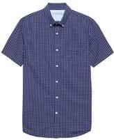 Banana Republic Grant Slim-Fit Luxe Poplin Check Shirt