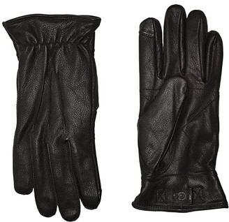 UGG 3 Point Leather Tech Gloves with Sherpa Lining (Black) Extreme Cold Weather Gloves