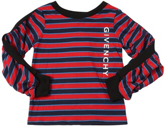 Givenchy Striped Long Sleeve Cotton T-Shirt