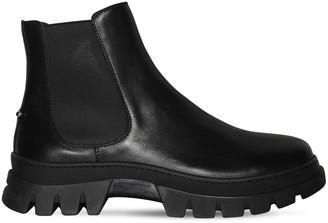 Neil Barrett Leather Chelsea Boots W/ Piercing