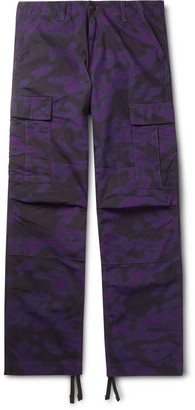 Carhartt Wip Camouflage-Print Cotton-Ripstop Cargo Trousers