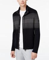 Armani Exchange Men's Stripe Zip-Up Jacket