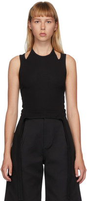 Dion Lee Black Double Tie Halter Top