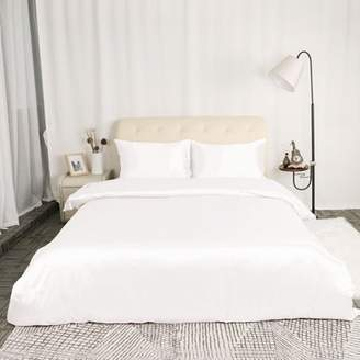Piccocasa PiccoCasa Satin Silk Bedding Comforter Duvet Cover Pillowcases Set