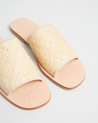 James Smith Off Duty Woven Slides